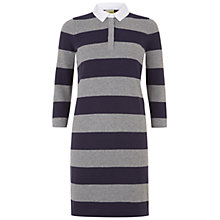 Buy NW3 by Hobbs Aria Rugby Dress, Navy Grey Mel Online at johnlewis.com
