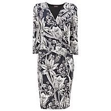 Buy Phase Eight Berkley Wrap Dress, Charcoal/Ivory Online at johnlewis.com