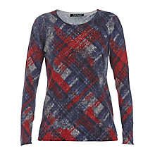 Buy Betty Barclay Studded Crew Neck T-Shirt, Dark Blue / Dark Red Online at johnlewis.com