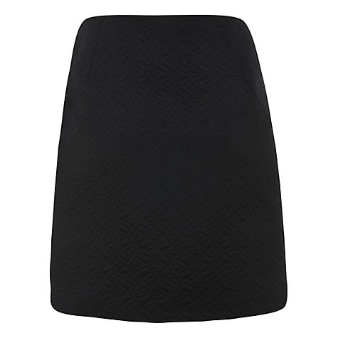 Buy Mint Velvet A-line Skirt, Black Online at johnlewis.com