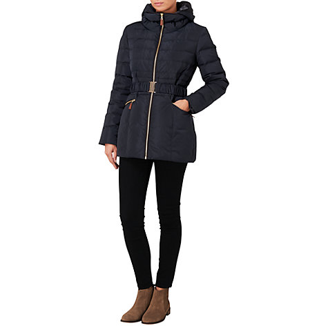 Buy Phase Eight Paula Puffa Jacket, Navy Online at johnlewis.com