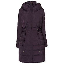 Buy Phase Eight Hattie Hooded Puffa Jacket, Aubergine Online at johnlewis.com