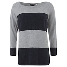 Buy Mint Velvet Stripe Knit Top, Navy / Silver Online at johnlewis.com