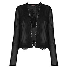 Buy Phase Eight Chester Lace Jacket, Black Online at johnlewis.com