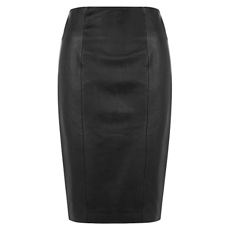 Buy Hobbs Thea Skirt, Black Online at johnlewis.com