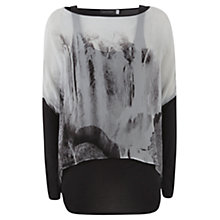 Buy Mint Velvet Double Layer Print Tee, Multi Online at johnlewis.com