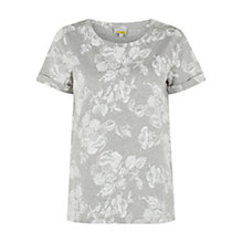 Buy Hobbs Beau T-Shirt, Grey Melange Online at johnlewis.com
