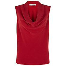 Buy Hobbs Ava Cowl Top, Pillar Box Red Online at johnlewis.com