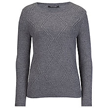 Buy Betty Barclay Diamond Pattern Jumper, Grey Online at johnlewis.com