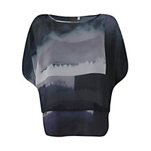 Buy Mint Velvet Quinn Print Double Layer Top, Multi Online at johnlewis.com