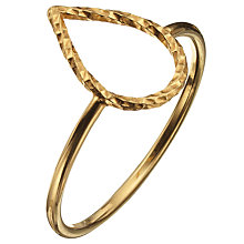 Buy Phoebe Coleman Plume Ring, Gold Online at johnlewis.com