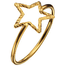 Buy Phoebe Coleman for John Lewis Star Sparkler Ring, Gold Online at johnlewis.com
