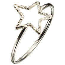 Buy Phoebe Coleman Star Sparkler Ring, Silver Online at johnlewis.com