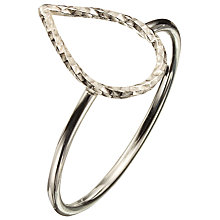 Buy Phoebe Coleman Plume Ring, Silver Online at johnlewis.com