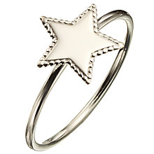 Buy Phoebe Coleman North Star Ring, Silver Online at johnlewis.com