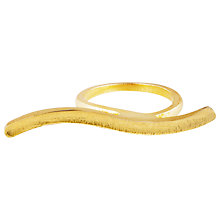 Buy Auren 22ct Gold Vermeil Plain Wave Bar Ring Online at johnlewis.com