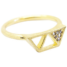 Buy Auren 22ct Gold Vermeil Triple Triangle Diamond Ring Online at johnlewis.com