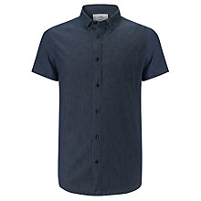 Buy John Lewis Short Sleeve Ditsy Shirt, Indigo Online at johnlewis.com