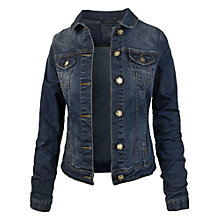 Buy Fat Face Portobella Dark Denim Jacket, Blue Online at johnlewis.com