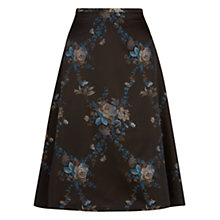 Buy Hobbs Invitation Alexa Skirt, Black Online at johnlewis.com