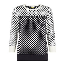 Buy NW3 by Hobbs Poppy Jumper, Navy Ivory Online at johnlewis.com