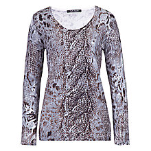 Buy Betty Barclay Animal Print Jumper, Grey Online at johnlewis.com