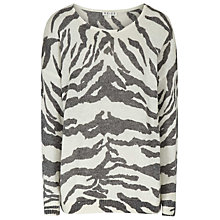 Buy Reiss Shola Printed Jumper, Cream Online at johnlewis.com