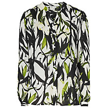 Buy Reiss Delores Printed Silk Shirt, Mint Online at johnlewis.com