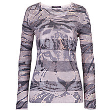Buy Betty Barclay Animal Print Striped Jumper, Grey Online at johnlewis.com