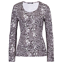 Buy Betty Barclay Flower Print T-Shirt, Beige / Grey Online at johnlewis.com