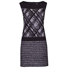 Buy Betty Barclay Shift Check Dress, Black Online at johnlewis.com