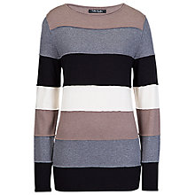 Buy Betty Barclay Stripe Knit Jumper, Black / Taupe Online at johnlewis.com