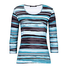 Buy Betty Barclay Staggered Stripe T-shirt, Multi Online at johnlewis.com