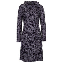 Buy Betty Barclay Rose Cowl Neck Dress, Black / Grey Online at johnlewis.com