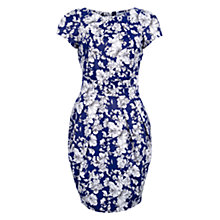 Buy Wolf & Whistle Drawn Floral Tailored Dress, Blue Online at johnlewis.com