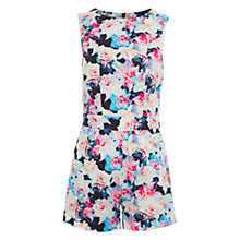Buy Wolf & Whistle Daffodil Playsuit, Black Floral Online at johnlewis.com