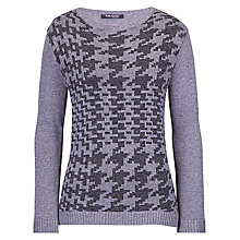 Buy Betty Barclay Herringbone Effect Jumper, Grey Online at johnlewis.com
