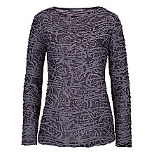 Buy Betty Barclay Rose Print Long Sleeved Top, Black / Grey Online at johnlewis.com