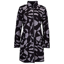 Buy Betty Barclay Print Two Pocket Wool Coat, Black / Grey Online at johnlewis.com