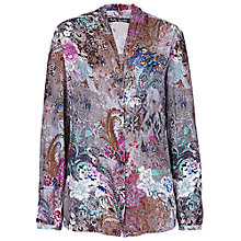 Buy Betty Barclay Floral V-Neck Blouse, Blue / Grey Online at johnlewis.com