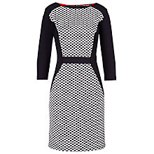 Buy Betty Barclay Three Quarter Sleeve Patterned Dress, Black Online at johnlewis.com