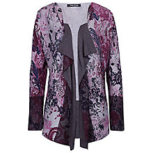 Buy Betty Barclay Floral Print Cardigan, Grey Online at johnlewis.com