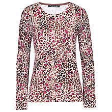 Buy Betty Barclay Animal Print Jumper, Rose/Brown Online at johnlewis.com