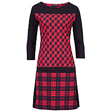 Buy Betty Barclay Three-Quarter Sleeve Dress, Black/Red Online at johnlewis.com