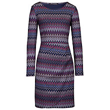Buy Betty Barclay Zigzag Wrap Dress, Grey/Dark Blue Online at johnlewis.com