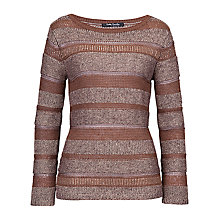 Buy Betty Barclay Stripe Stud Jumper, Hazelnut Online at johnlewis.com