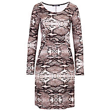 Buy Betty Barclay Animal Print Dress, Rosé / Brown Online at johnlewis.com