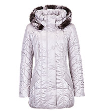 Buy Betty Barclay Quilted Parka Jacket, Light Silver Online at johnlewis.com