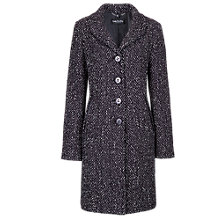 Buy Betty Barclay Tweed Coat, Black / Cream Online at johnlewis.com