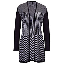 Buy Betty Barclay Long Herringbone Cardigan, Black Online at johnlewis.com